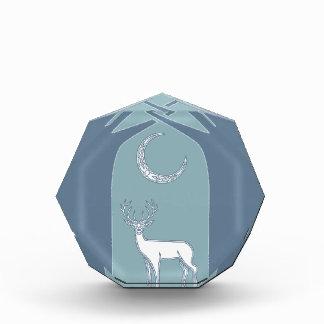 Ciervos azules y blancos en el arte del Celtic del