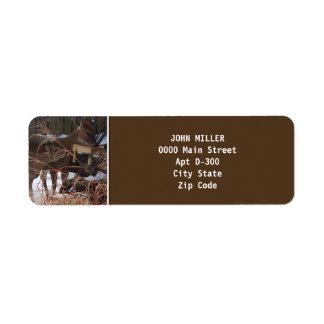ciervos Blanco-atados en etiqueta del remite del i Etiquetas De Remite