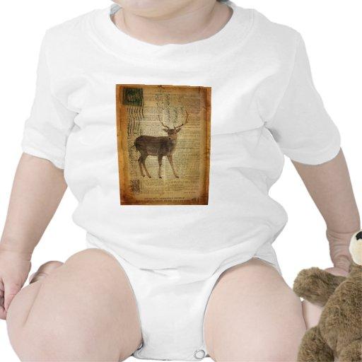 ciervos blancos hermosos del cuento trajes de bebé