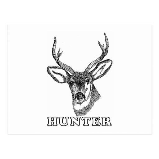 Ciervos blancos y negros postales