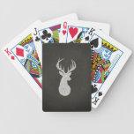 Ciervos con el dibujo de tiza de las astas baraja cartas de poker