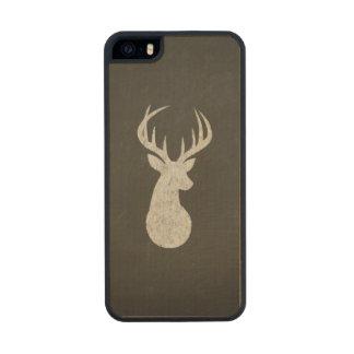 Ciervos con el dibujo de tiza de las astas funda de madera para iPhone SE/5/5s