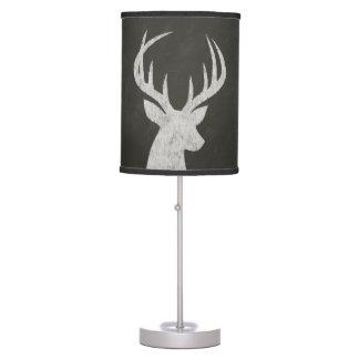 Ciervos con el dibujo de tiza de las astas lámpara de mesilla de noche