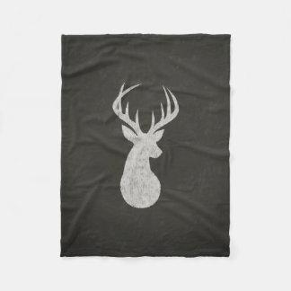 Ciervos con el dibujo de tiza de las astas manta de forro polar