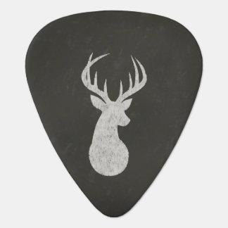 Ciervos con el dibujo de tiza de las astas plumilla de guitarra