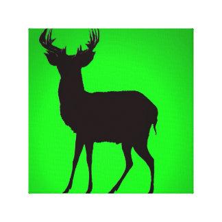 ciervos con imagen de fondo verde en los convas ma impresión en lienzo
