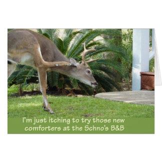 Ciervos con un picor tarjeta de felicitación