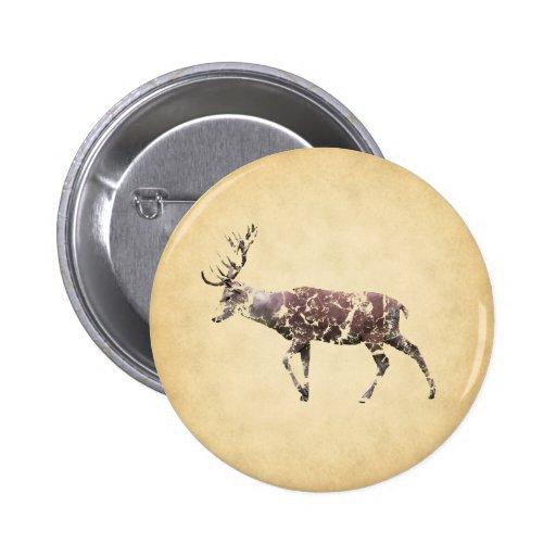 Ciervos con una mirada sucia pins