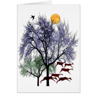 Ciervos corrientes tarjeta de felicitación