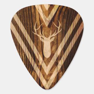 Ciervos de Boho en la madera rústica Plectro