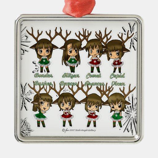 Ciervos de Chibi Ornamente De Reyes