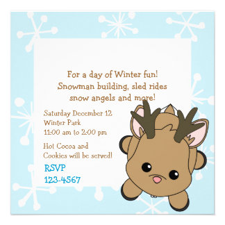 Ciervos de Cutie Invitaciones Personalizada