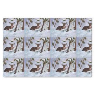 Ciervos de la baya del acebo papel de seda pequeño