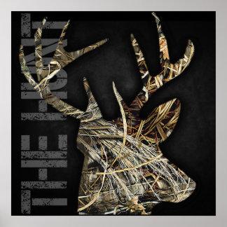 """Ciervos """"de la caza"""" que cazan el poster de las as"""