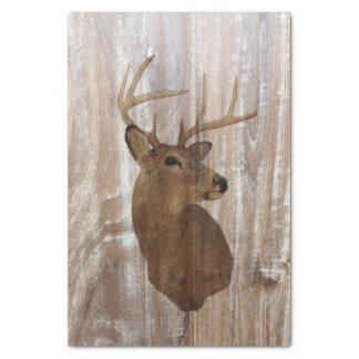 ciervos de madera rústicos del grano del país papel de seda pequeño
