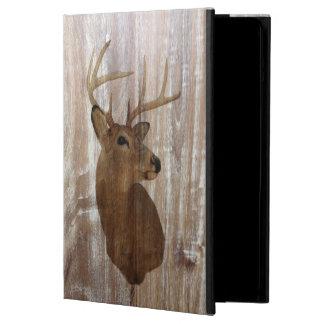 ciervos de madera rústicos del vintage del grano