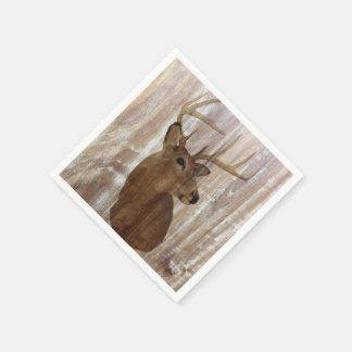 ciervos de madera rústicos del vintage del grano servilleta desechable