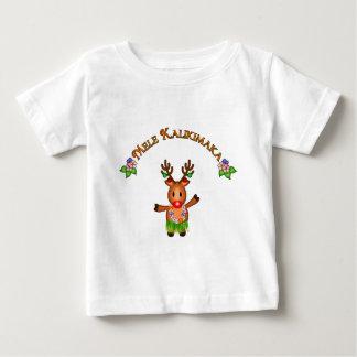 Ciervos de Mele Kalikimaka Playera De Bebé
