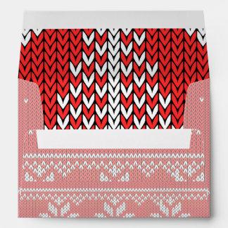 Ciervos de salto del suéter feo del punto del rojo sobre