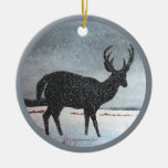 Ciervos de Snowdusted Adornos De Navidad