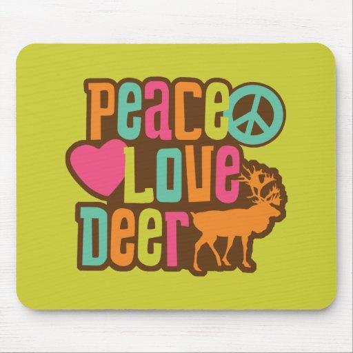 Ciervos del amor de la paz alfombrillas de ratones