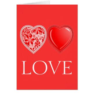 Ciervos del amor tarjeta pequeña