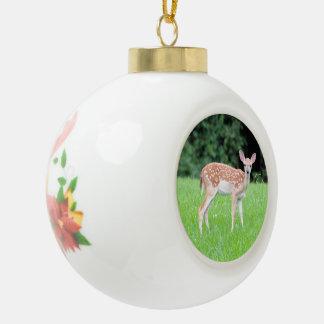 Ciervos del bebé adorno de cerámica en forma de bola