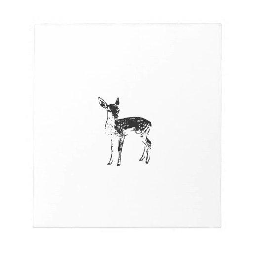 Ciervos del bebé - cervatillo bloc de papel