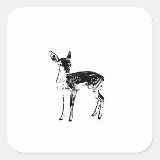 Ciervos del bebé - cervatillo pegatina cuadrada