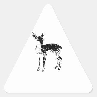 Ciervos del bebé - cervatillo pegatina triangular