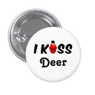 Ciervos del beso del botón I Pin Redondo De 1 Pulgada