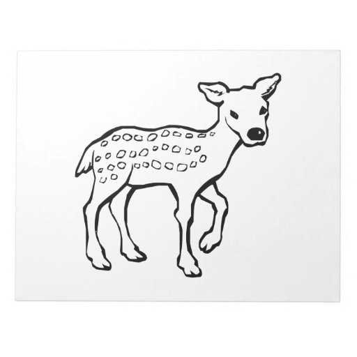 Ciervos del cervatillo del bebé bloc de papel