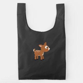 Ciervos del dibujo animado bolsa reutilizable