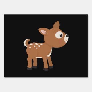 Ciervos del dibujo animado letreros