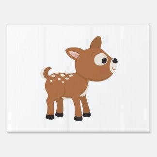 Ciervos del dibujo animado señal