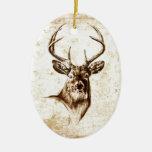 Ciervos del fineart F078 del vintage Adornos De Navidad
