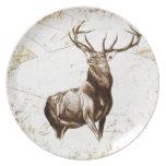 Ciervos del fineart F079 del vintage Platos De Comidas