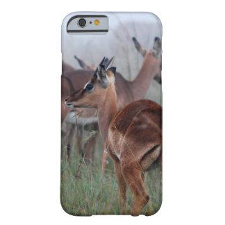 Ciervos del impala en la niebla funda barely there iPhone 6