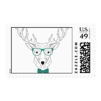Ciervos del inconformista sello postal