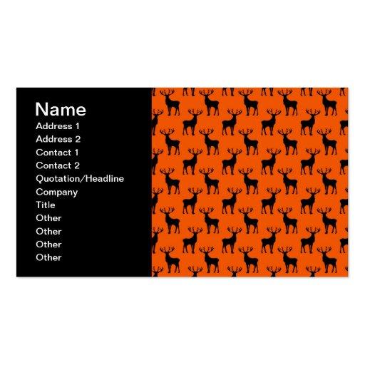 Ciervos del macho en el naranja brillante tarjetas de visita