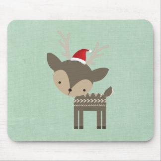 Ciervos del navidad en un inconformista retro del tapetes de ratones