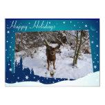 Ciervos del navidad invitación 12,7 x 17,8 cm