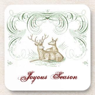 Ciervos del navidad posavasos de bebida
