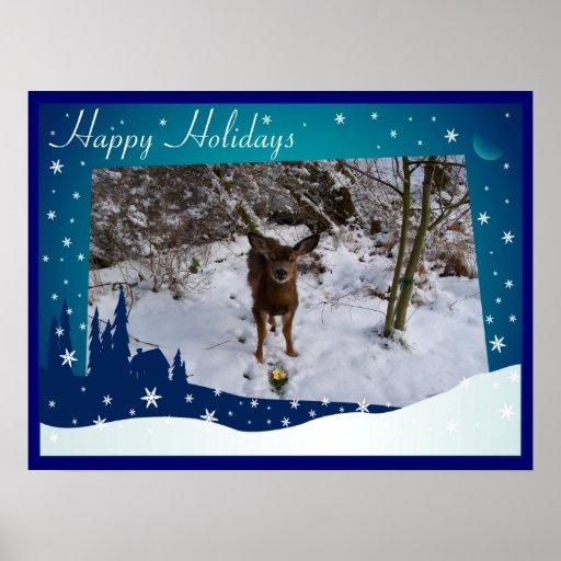 Ciervos del navidad posters
