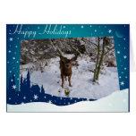 Ciervos del navidad tarjeta de felicitación