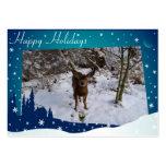 Ciervos del navidad tarjetas de visita grandes