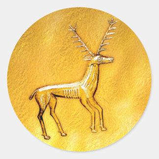 Ciervos del oro - pegatina