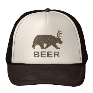 Ciervos del oso de la cerveza gorras