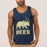Ciervos del oso del amarillo del vintage top
