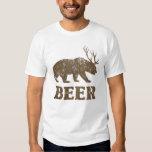 Ciervos del oso del vintage playeras
